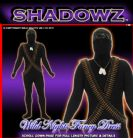 FANCY DRESS SHADOWSUITS/SKINZ/ZENTAI SUITS - ARMY SOLDIER XL